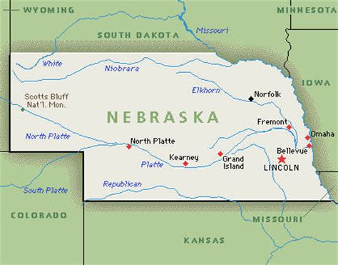 us map nebraska nebraska family attractions hotel 4