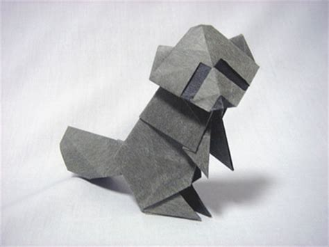 Origami Raccoon - common raccoon