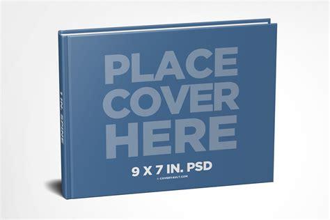 9 x 7 landscape paperback book mockup covervault