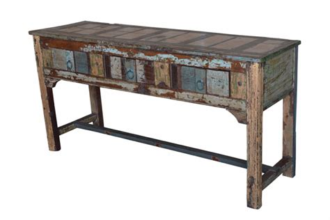 salvaged wood console table reclaimed wood console tables orissa b007r1 100 percent