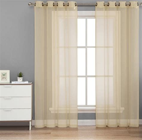 voile sheer curtain panel 1pc ivory grommet voile sheer panel window curtain drape