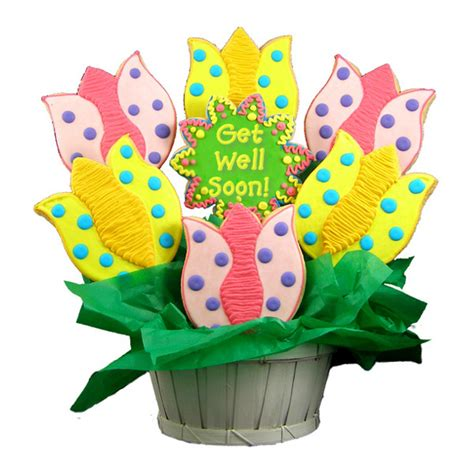 cookie bouquets get well tulips sugar cookie bouquet cookie bouquets