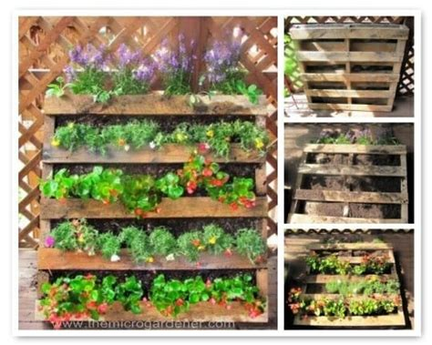 Skid Planter by 20 Creative Ways To Upcycle Pallets In Your Garden