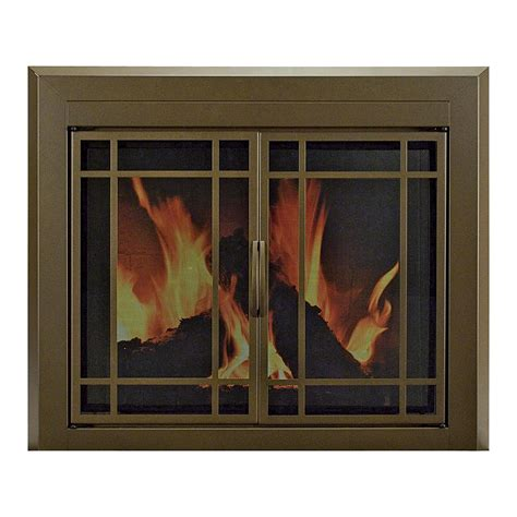 pleasant hearth enfield fireplace glass door for masonry