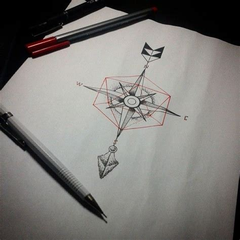 geometric compass tattoo geometric compass arrow tattoos alam vinicius