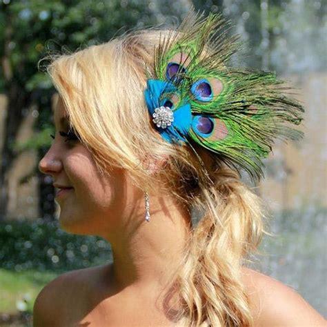 Wedding Hair Accessories Ebay Uk by Peacock Feather Rhinestone Hair Pin Clip