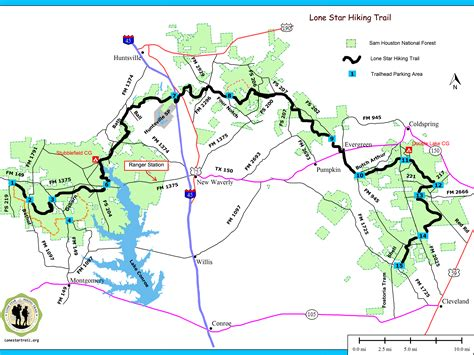 texas hiking trails map map of sam houston national forest swimnova