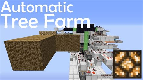 automatic tree minecraft tutorial automatic tree farm with leaf crusher