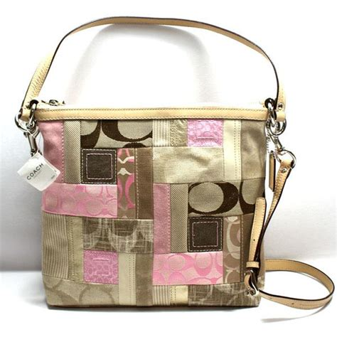 Coach Patchwork Bag - coach signature patchwork convertible shoulder bag pink