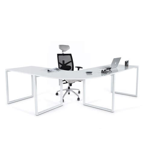 bureau d 騁ude design bureau d angle alaska en bois blanc laqu 233 design bureau