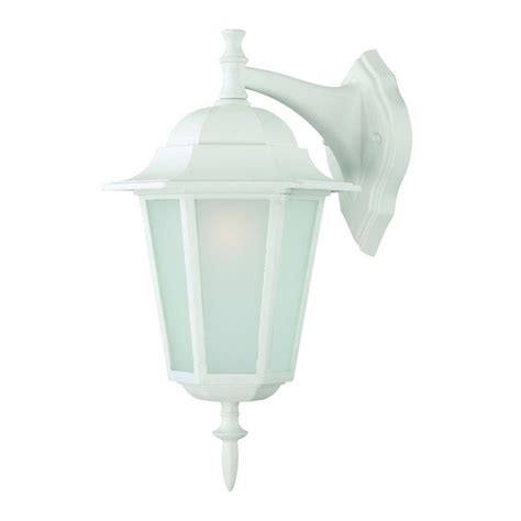 white outdoor lighting fixtures acclaim lighting camelot collection 1 light textured white