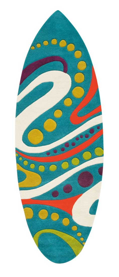 Tapis Surf by Tapis Turquoise Surfing Par Arte Espina