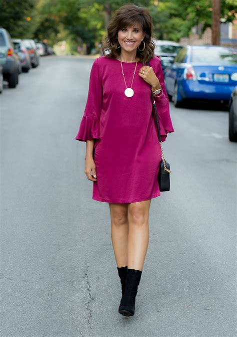 September Sleeve Dress By Grace ruffle sleeve dress for a fall wedding grace