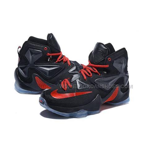 lebron shoe cheap nike lebron 13 bred black on sale price 110