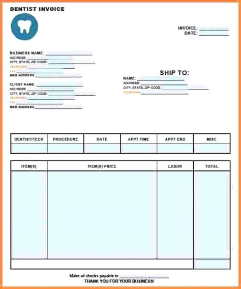 dentist receipt template word dental receipt mindofamillennial me