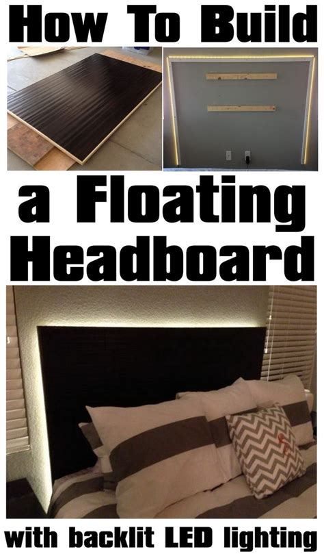 how to add lights to headboard how to a floating headboard with backlit led lighting