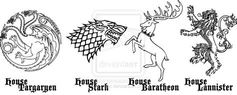 thrones sigils coloring pages of thrones house sigil 1 by taeliac on deviantart