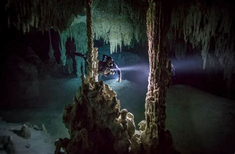 km long worlds largest underwater cave  mexico