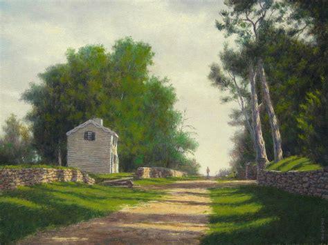 Landscape By Fredericksburg Va The Innis House Fredericksburg Va Painting By Barry Debaun