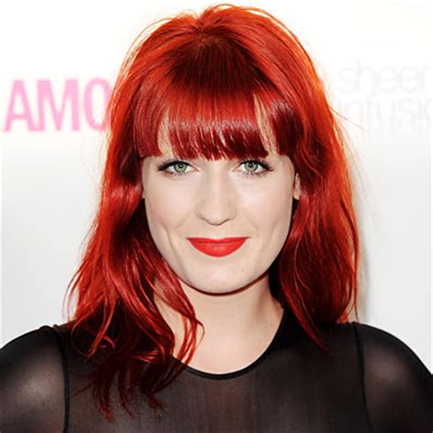 red public hair pics florence welch s changing looks instyle com