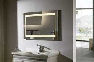 Bathroom Lighted Mirrors Zen Ii Lighted Vanity Mirror Led Bathroom Mirror