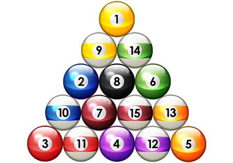 proper rack for 8 ball free clipart