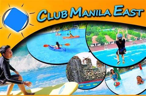 club manila east day pass resort  rizal metrodeal
