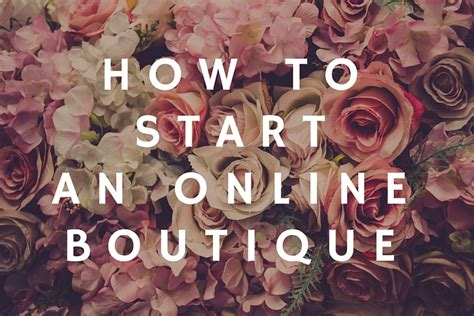 how to start an online boutique bplans