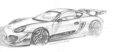 Porsche 911 Sketches by Porsche Cayman Sketch Process Step 1 Porsche 987
