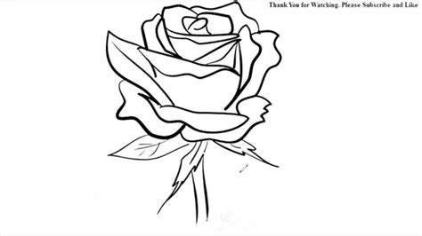 R Drawing Lines by How To Draw A Flower Easy Line Drawing Sketch