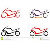 Motorcycle On White Background  Icon Can Be Used As Logo Tattoo