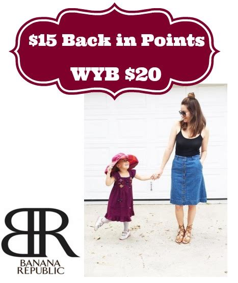 Does Kmart Accept Sears Gift Cards - sywr 15 back in points wyb 20 at banana republic
