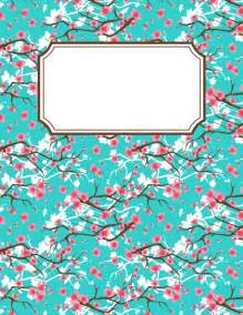 Binder Cover Template by Free Printable Cherry Blossom Binder Cover Template