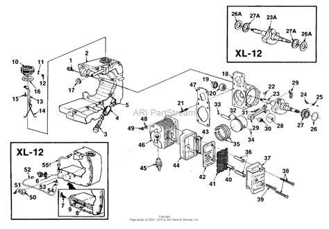 homelite xl parts diagram homelite sxlao chain saw ut 10548 a parts diagram for