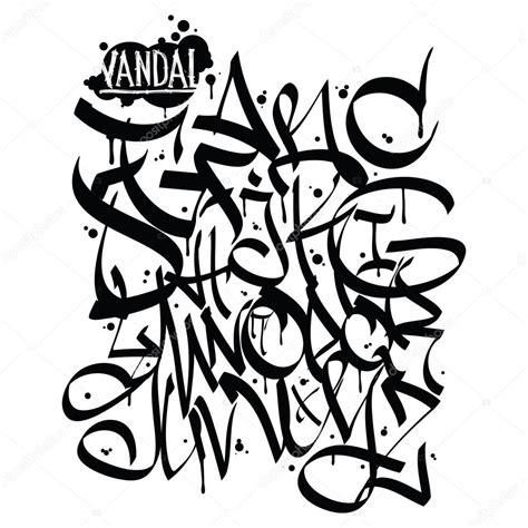 lettere stile graffiti lettere di alfabeto di graffiti font disegno dei graffiti