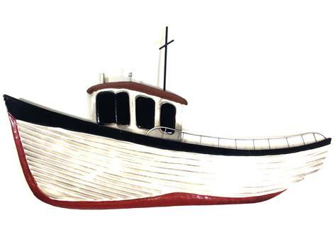 boat art metal wall art fishing boat