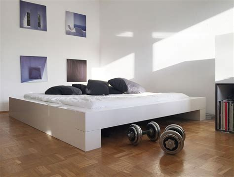 futonbett weiß 160x200 bett somnium minimalistisches design bett rechteck