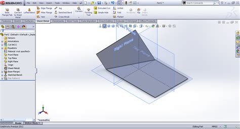 solidworks flat pattern bend notes tutorial sketched bend feature sheet metal in