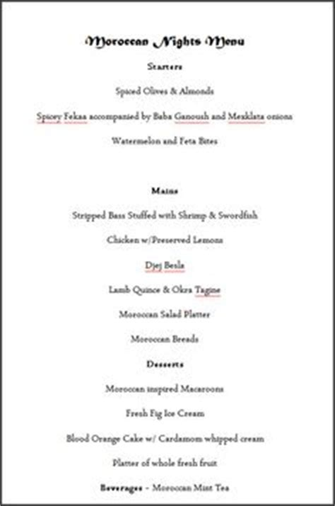 moroccan dinner menu ideas 1000 images about the saveur dinner on