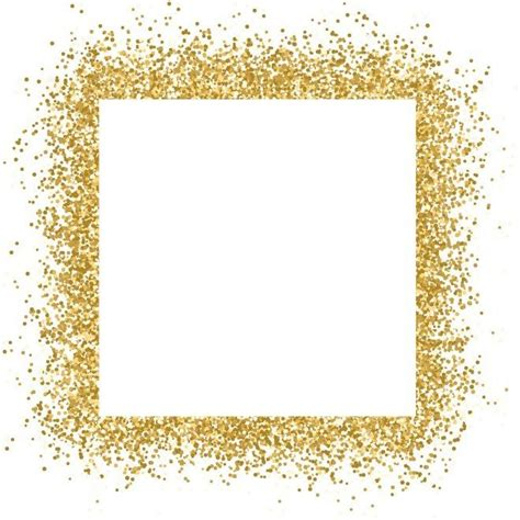 instagram layout rahmen free vector gold glitter frame sparkles on white