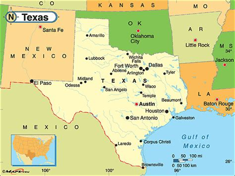 political texas map texas political map by maps from maps world s largest map store