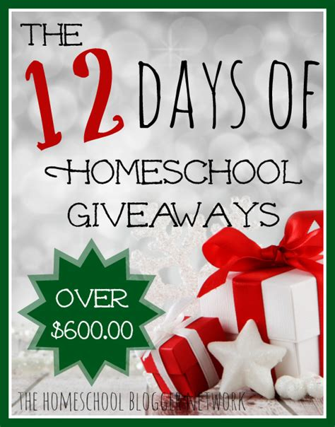 Homeschool Giveaway - the 12 days of homeschool giveaways my joy filled life
