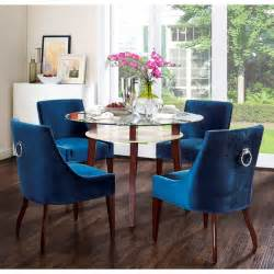 Blue Dining Room Furniture by Tov Furniture Dover Blue Velvet Dining Chair W Silver