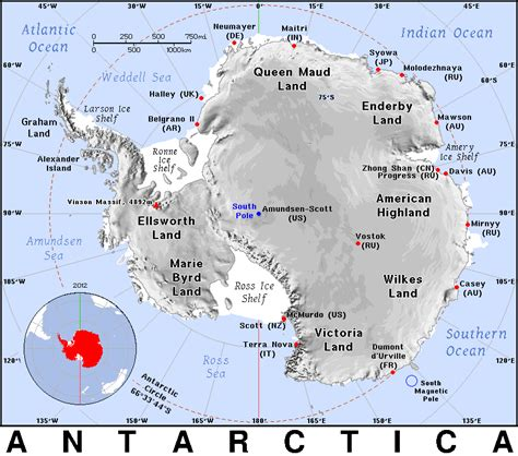 map of antarctica with cities antarctica detailed geography country maps a antarctica