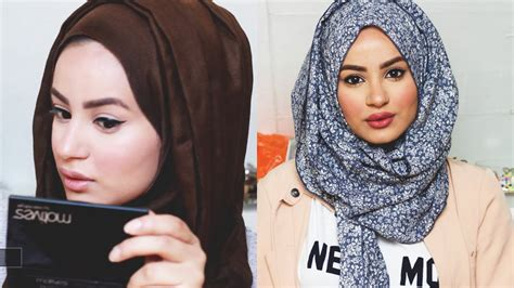 tutorial makeup simple hijab get ready with me make up tutorial hijab tutorial