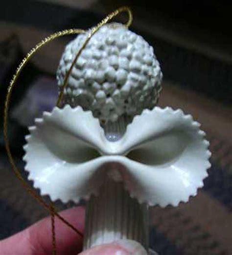 noodle angel homemade christmas ornament