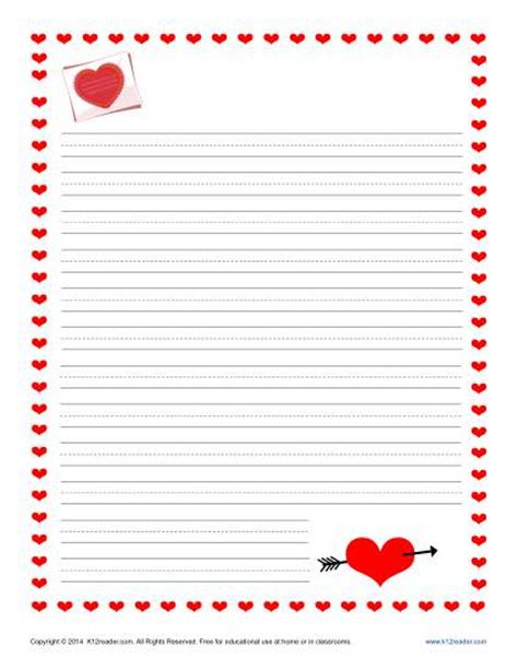 valentines day writing paper 9 best images of s day printable stationery