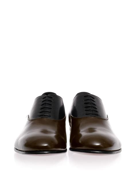 14 Sergio Shoes by Sergio Roger Contrast Leather Laceup Shoes In Gray