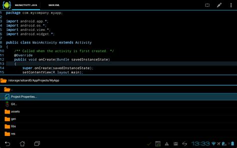 android ide android ဖ န ထ က န android app တ ဖန တ င မယ aide android ide java c 2 2 1 အ
