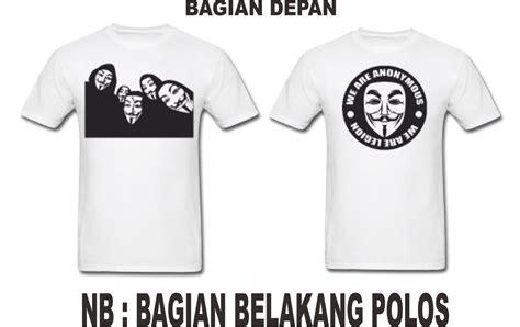 T Shirt Anonymous Putih t shirts hacker belajar hack dari a z